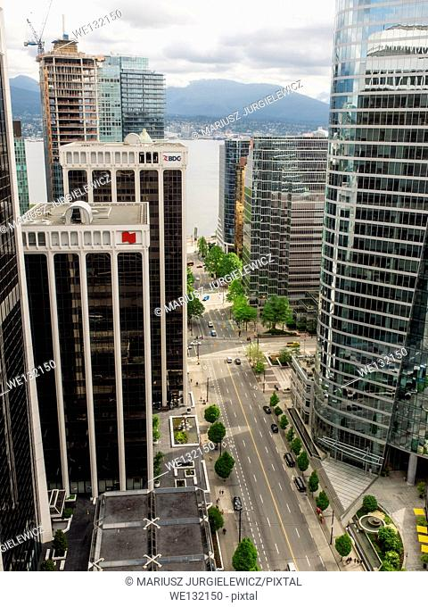 View of Vancouver Downtown and Financial District from 31st floor