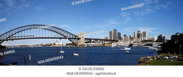 A stock photograph of the Sydney Harbor Bridge