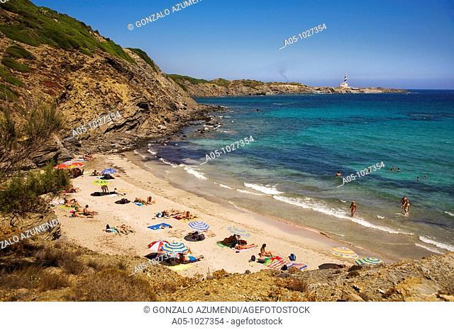 Way to Cala Tortuga, S'Albufera des Grau Natural Park, Minorca, Balearic Islands, Spain