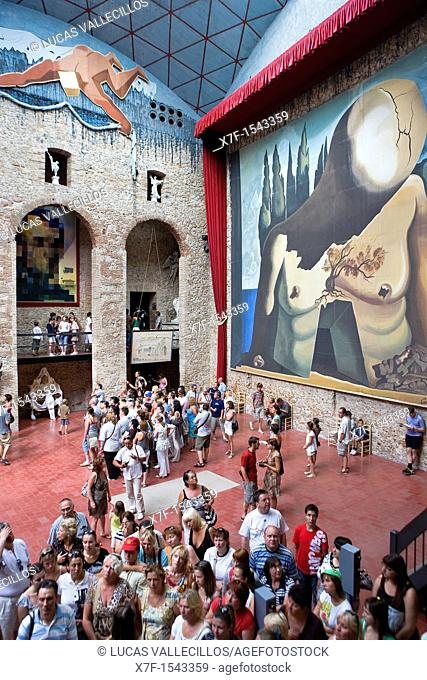Dalí's Theatre Museum Former scene of the theatre Labyrinth, Figueres.Girona province. Catalonia. Spain