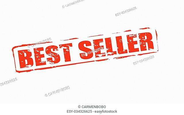 Rubber stamps with text best seller inside, vector illustration