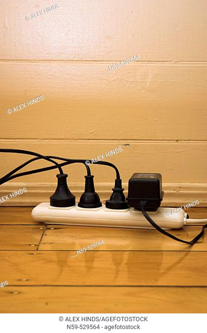Plugs and an adapter taking power from a splitter