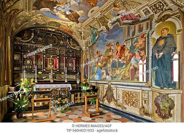 Frescoes, Sacro Monte in Varese, Lombardy, Italy
