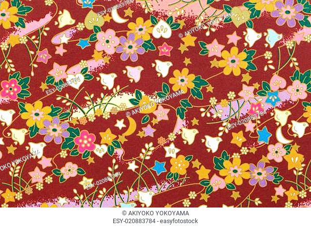 Traditional Japanese pattern origami paper