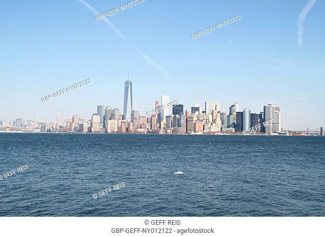 Lower Manhattan from Liberty Island, New York City, United States