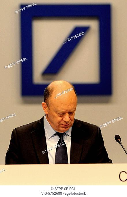 Germany, Frankfurt, 18.05.2017 Vorstandsvorsitzenden John CRYAN waehrend der Hauptversammlung der Deutsche Bank AG - Frankfurt, , Germany, 18/05/2017