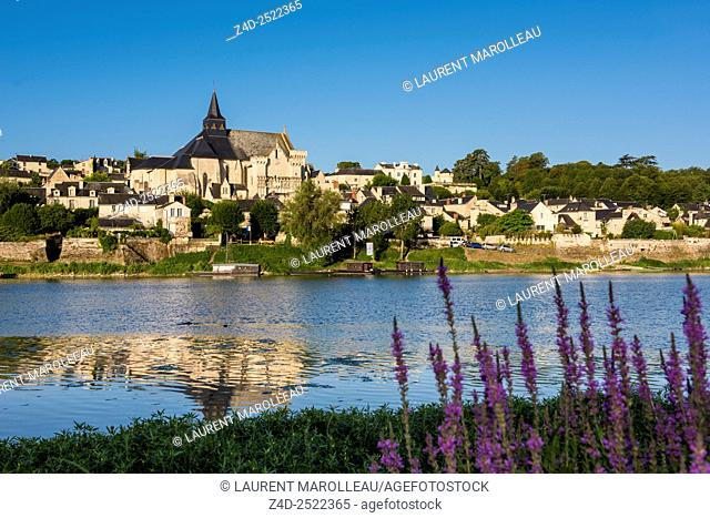 Collegiate Church of Saint-Martin (12th and 13th centuries) and the Candes-Saint-Martin Village (Labeled The Most Beautiful Villages of France)