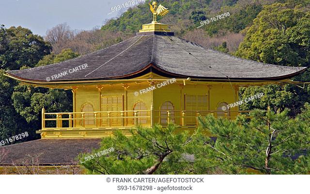 A view of Kingaku-ji temple