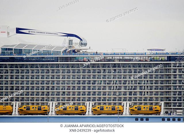 Detail of the cruiser Anthem of the Seas