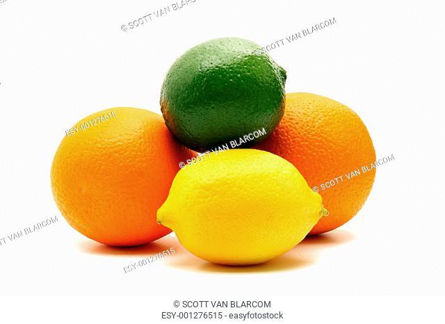 Citrus fruit isolated on white background