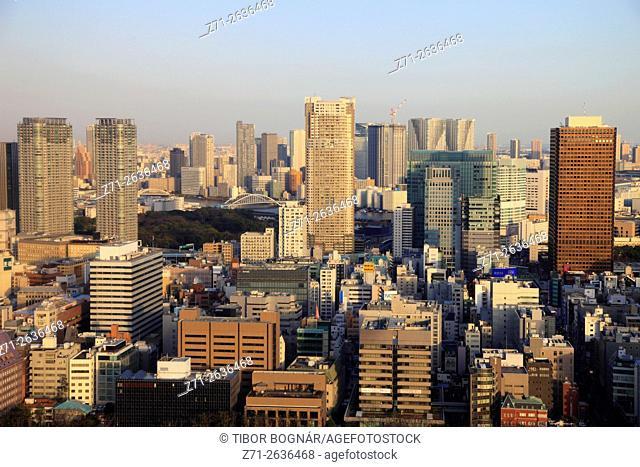 Japan, Tokyo, skyline, aerial view,
