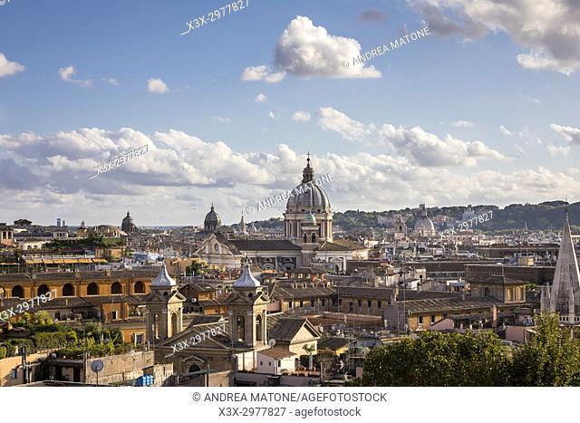 The roman cityscape. Rome, Italy