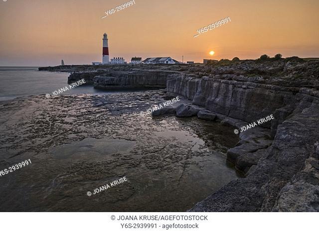 Portland Bill Lighthouse; Isle of Portland; Dorset; England; UK