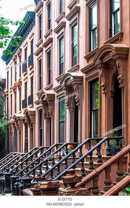 Brownstones, New York City, New York, USA