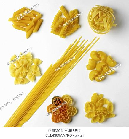 Selection of pasta shapes