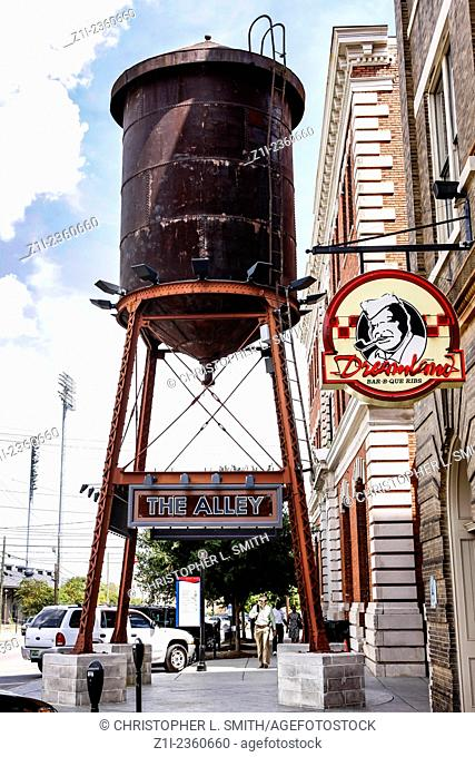 The old railway water tower on Tallapoosa Street in Montgomery Alabama