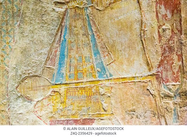 Egypt, temple of Beit el Wali, on Kalabsha Island, lake Nasser. This is an early construction of Ramses II, saved by UNESCO
