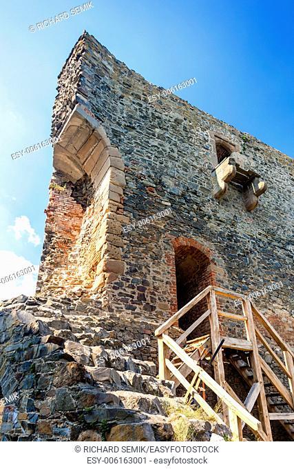 ruins of Krakovec Castle, Czech Republic