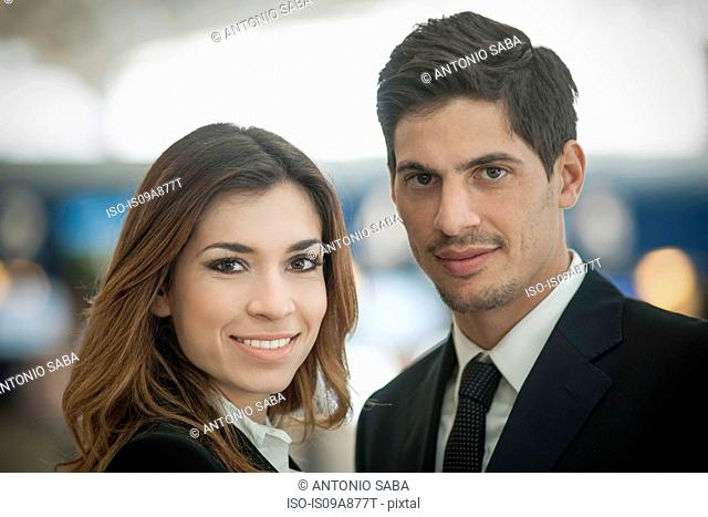 Portrait of businesspeople smiling to camera