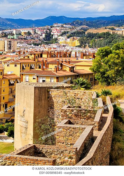 The Alcazaba - old fortification in Malaga, Andalusia, Spain
