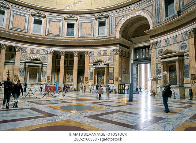 Inside Pantheon in Rome Italy