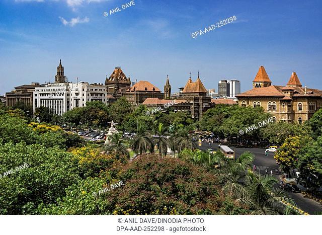 Flora fountain, mumbai, maharashtra, india, asia