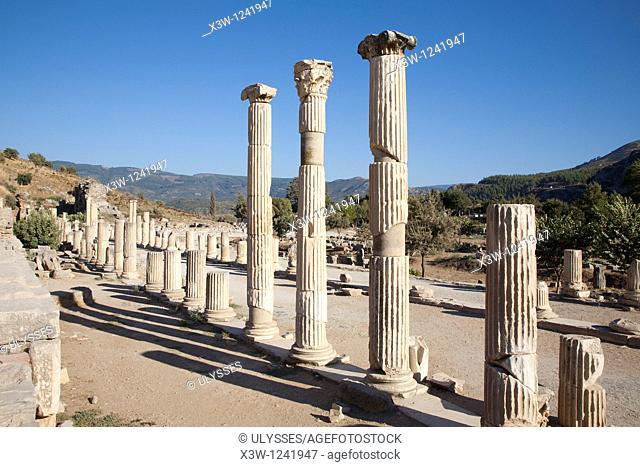 asia, turkey, anatolia, ephesus, colonnade