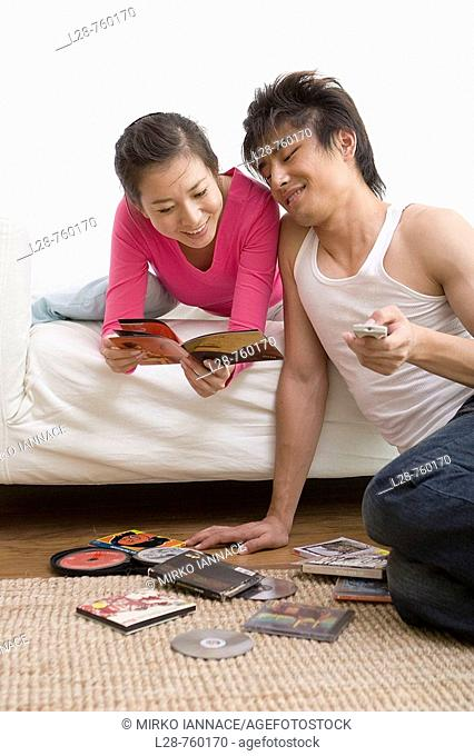 Young Couple  reading dvd cover