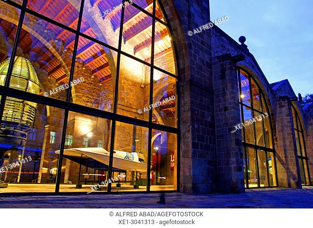 Maritime Museum, building of Les Drassanes, Barcelona, Catalonia, Spain