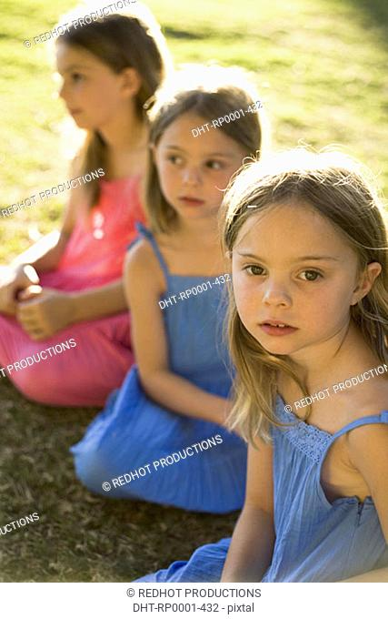 Young girls in park