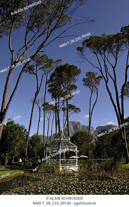 Gazebo in a park, Boschendal Wine Estates, Western Cape Province, South Africa
