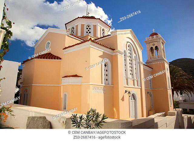 Church in Pyrgos village, Tinos, Cyclades Islands, Greek Islands, Greece, Europe