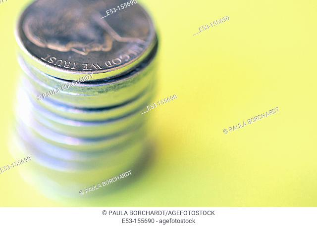 Stack of American nickels