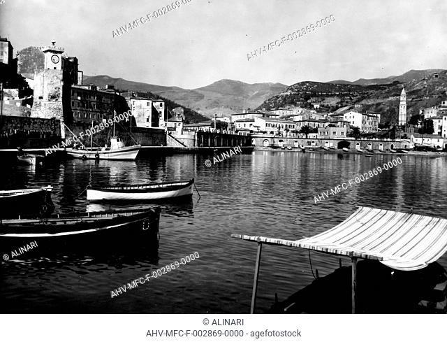 View of Rio Marina's port at Isola d'Elba, shot 1960 by Omnia Foto