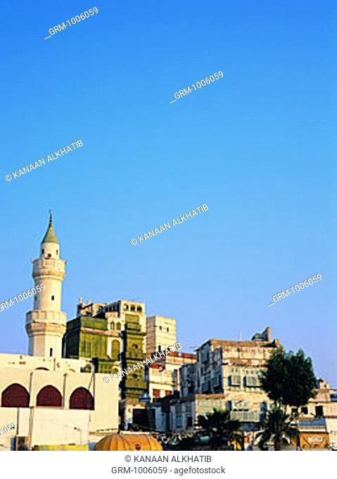Al Amayer Mosque Bab Makkah area - one of the oldest mosques in Jeddah, Saudi Arabia