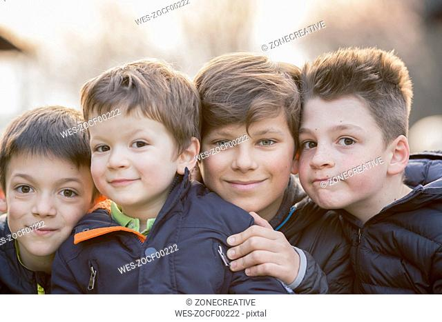 Group picture of four boys