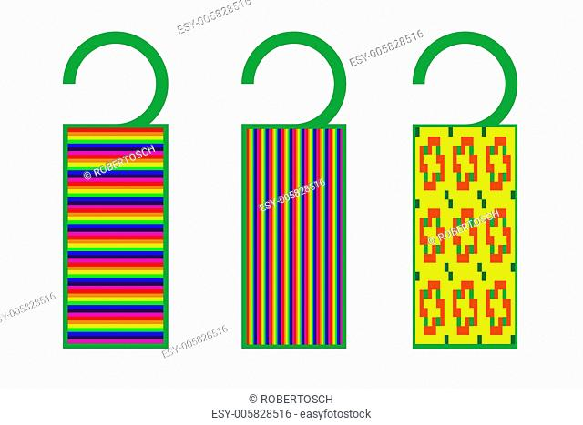 tags with texture (stripes)