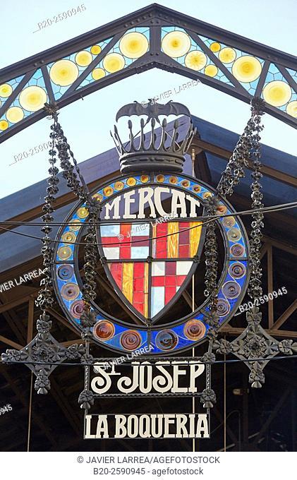 Mercat St Josep, La Boqueria market, Las Ramblas. Barcelona. Catalonia. Spain