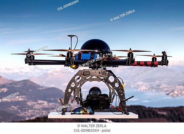 Drone, close-up, Stresa, Piedmont, Italy