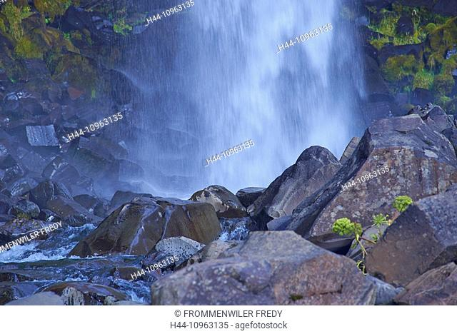 Creek, Iceland, stones, Svartifoss, waterfall, Europe, holidays, travel