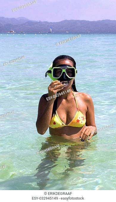 Snorkeling at Boracay, Philippines