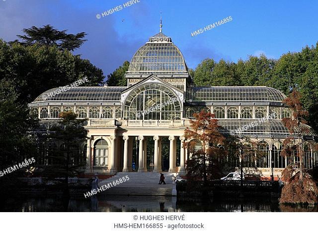 Spain, Madrid, Retiro garden, Palacio de Cristal