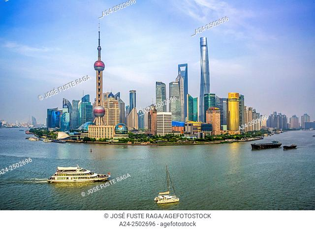 China, Shanghai City,Pudong Skyline