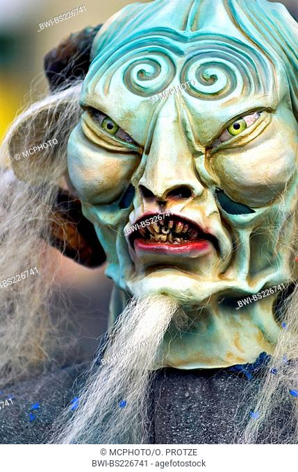scary carnival costume at Fasnacht in Lucerne, Switzerland, Lucerne