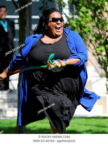 Alison Hammond filming outside ITV Studios Featuring: Alison Hammond Where: London, United Kingdom When: 01 May 2018 Credit: Rocky/WENN.com