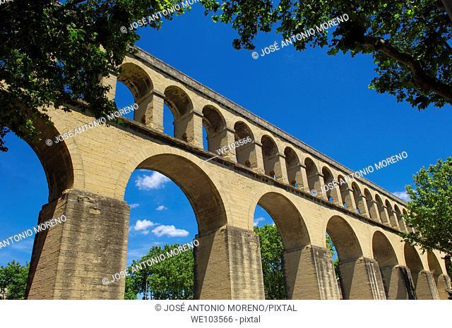 Saint-Clement aqueduct, Montpellier, Herault, Languedoc-Roussillon, France