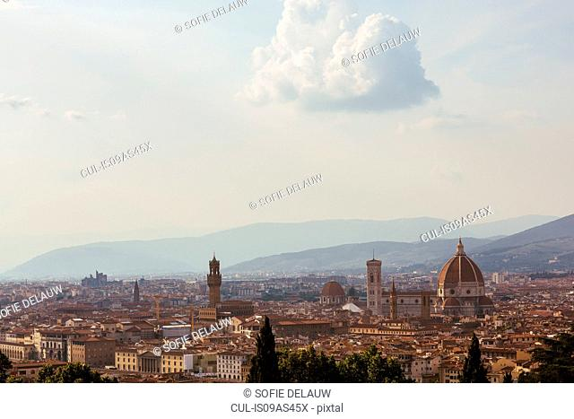 Elevated view of Florence, Italy