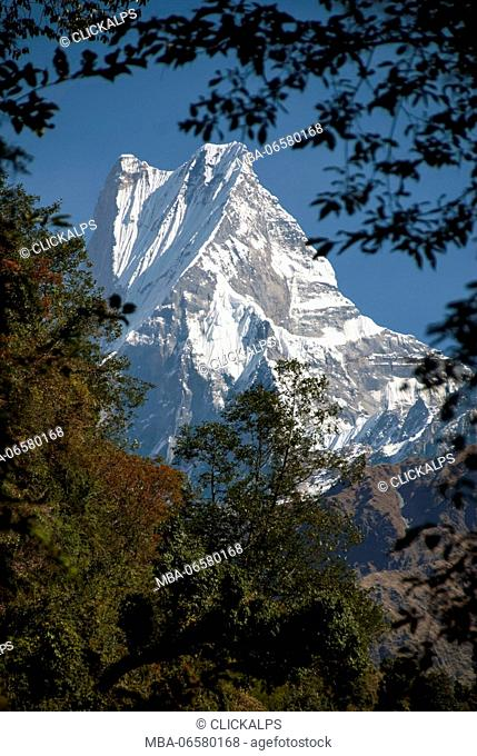 Machhapuchhre from Annapurna Circuit, Himalaya, Nepal