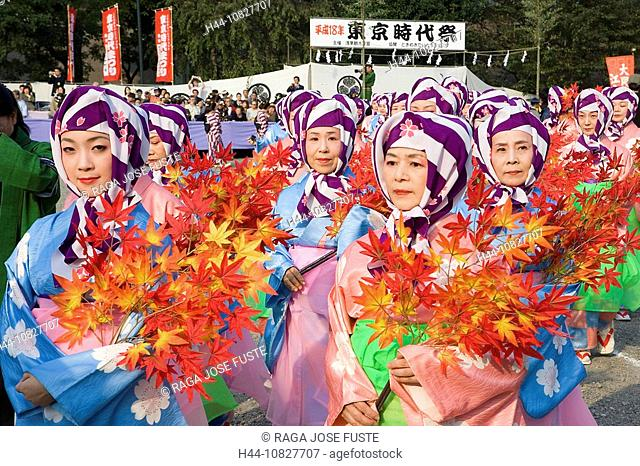 Japan, Asia, Tokyo, Tokyo, Asakusa-Kannon, Sensoji temple, Jidai Matsuri, Festival, relocation, move, party, parade, w
