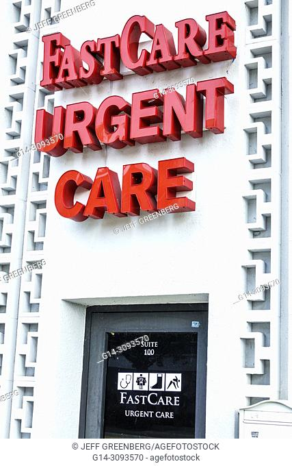 Florida, Miami Beach, Arthur Godfrey Road 41st Street, FastCare Urgent Care, medical walk-in clinic facility, ambulatory care, entrance, exterior